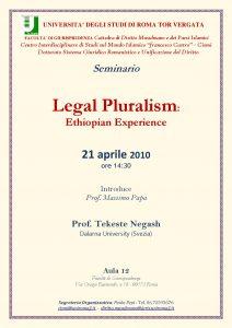 12 (2010) Legal Pluralism ethiopian experience