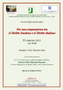 15 (2011) Per una comparazione tra Diritto Iracheno e Diritto Italiano