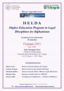 17 (2011) HELDA giornata di chiusura Corso