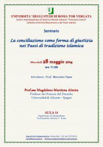28 (2014) La conciliazione come forma di giustizia nei Paesi Islamici