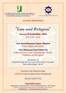 30 (2014) Law and Religion