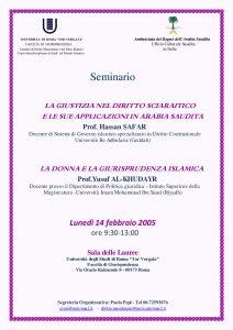 4 (2005) Giustizia nel Diritto Sciaraitico in Arabia Saudita - Donna e Giurisprudenza Islamica