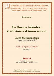 5 (2006) La Finanza Islamica; tradizione ed innovazione