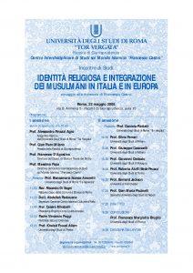 8 (2008) Identità Religiosa e Integrazione dei Musulmani in Italia e in Europa