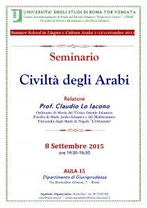 Civiltà degli Arab -i Seminario 8.9.2015